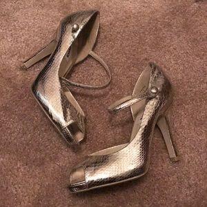 Steve Madden Gold Shoes